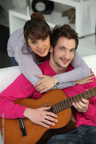 Couple with guitar