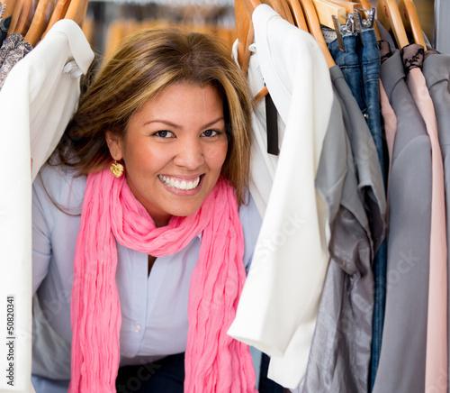 Happy female shopping