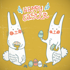 Happy easter doodle card