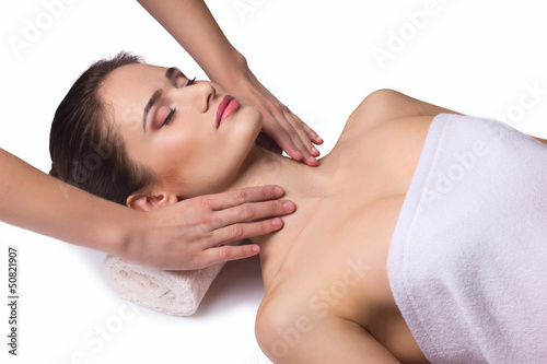 massage for neck  young woman