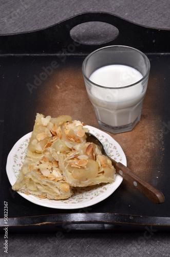 Szarlotka i mleko