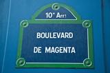Boulevard Magenta à Paris 10ièm poster