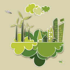 Go green city concept