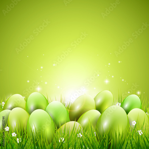 Green modern Easter background