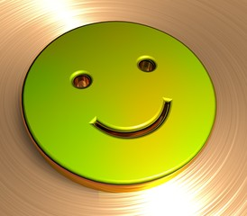 3D Goldzeichen II - Smiley II