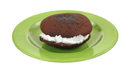 Whoopie Pie Green Plate