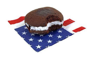 Whoopie Pie Patriotic Napkin