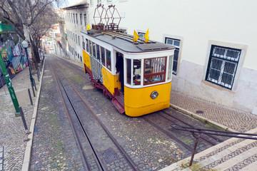 Lisbon's famous tram, Portugal