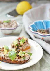 Bruschetta  with beans