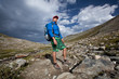 Hiker on Aletch arena Glacier Treck