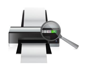 printer magnify illustration design