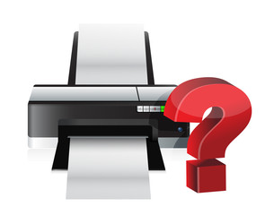 printer question mark