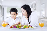 Encourage child to eat salad at home poster