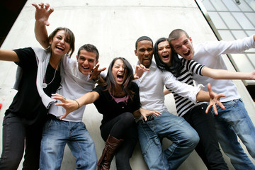 Youth group posing for photo