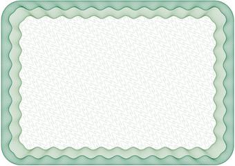 Guilloche frame, border, size A4
