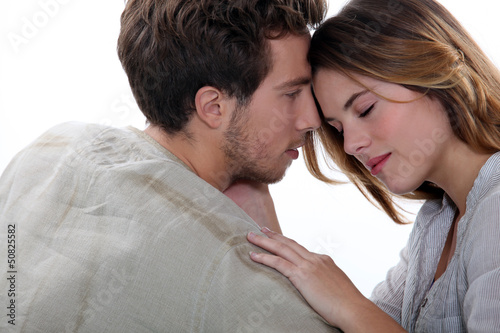 young couple embracing