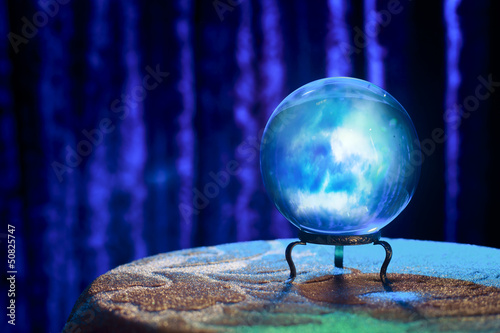 Fortune teller's Crystal Ball with dramatic lighting - 50825747