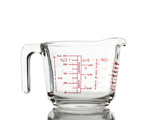 Measuring mug isolated