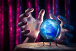 Fortune teller's Crystal Ball with dramatic lighting - 50826359