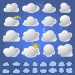 Natural Cloud Icons Collection