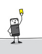 Arbitre qui sort un carton jaune