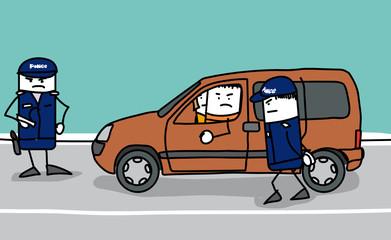 Controle des véhicules par la police