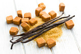vanilla pods with brown sugar