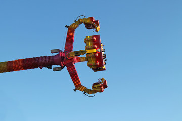 A High Flying Fun Fair Amusement Ride.