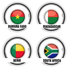 drapeaux Afrique