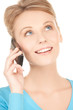 businesswoman with cell phone calling