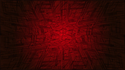 Vector illustration of futuristic red abstract glowing