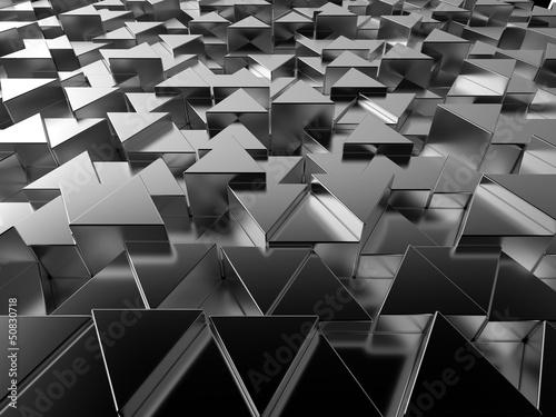 glanzender-dreieckiger-metallstabhintergrund
