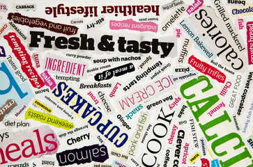 cookery text collage