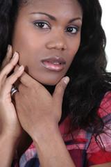 Portrait of a beautiful woman of African origin