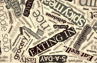 cookery word collage