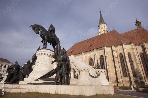 Statue of Matei Corvin, Cluj-Napoca, Transylvania