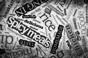 newspaper food clippings