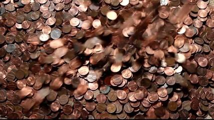 falling pennies