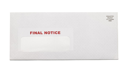 Final Notice Envelope