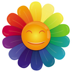 Vector rainbow flower