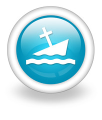 "Light Blue Icon ""Partially Submerged Wreck"""