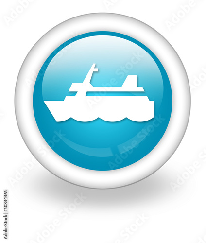 "Light Blue Icon ""Cruise Liner"""