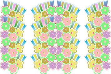 flower decoratively romantically seamless abstraction