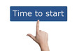 pressing time to start button