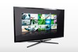 Glossy widescreen high definition tv screen with video gallery.