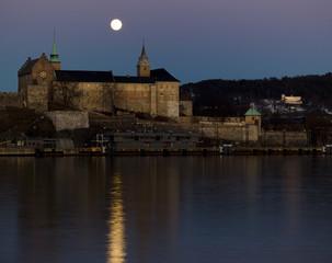 Akershus castle, full moon