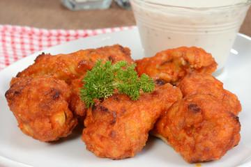 Macro chicken wings