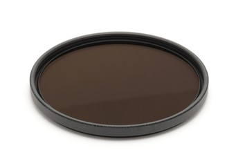 New neutral density filter on a white background.