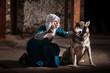 Nun Commanding Dog