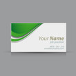 Green vector business card